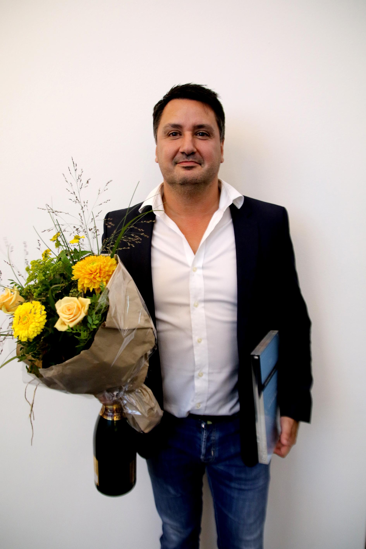 Vinder af den kommercielle pris, Allan Foss, kommerciel chef, Jysk Fynske Medier
