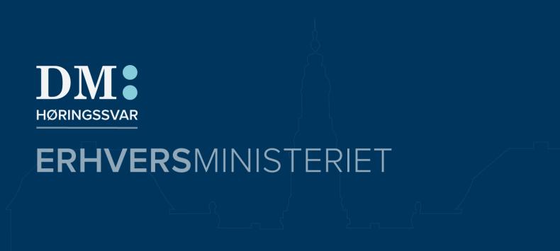 Erhvervsministeriet_høringssvar